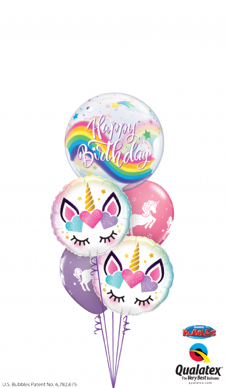Unicorn Bubble & Latex Bouquet